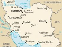 Map of Iran and major cities