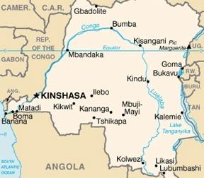Political map of Congo