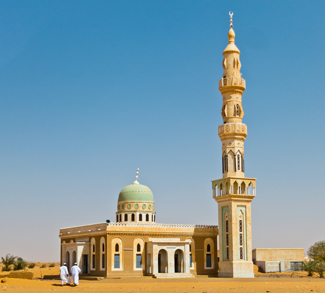 A mosque in Sudan.