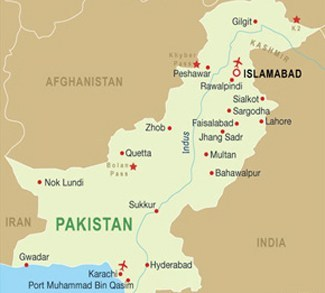Pakistan and major cities