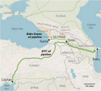 oil pipelines in Middle East