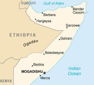 Major cities in Somalia