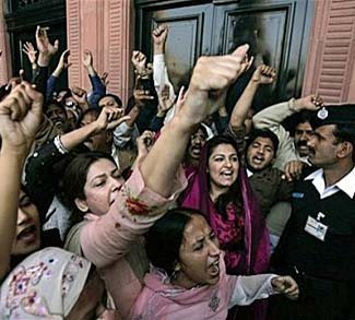 Political protest in Pakistan