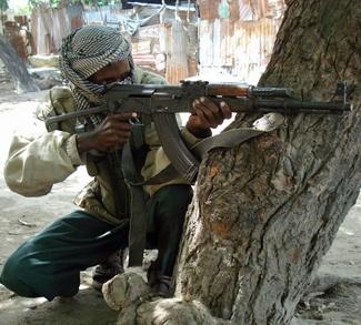 Islamist fighter in Somalia