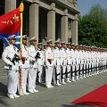 PLA Navy soldiers line up