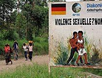 Billboard in Congo concerning local violence