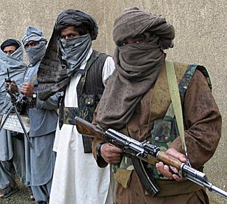 Armed Arab men