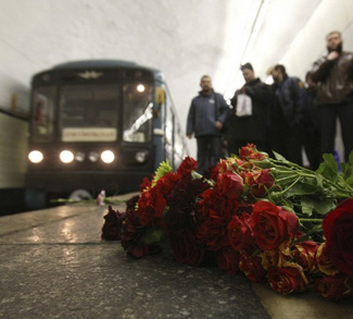 Memorial in metro station in Moscow