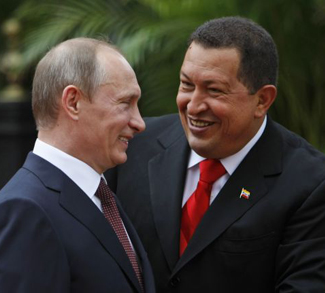 Venezuelan President Hugo Chavez and Russian Prime Minister Vladimir Putin