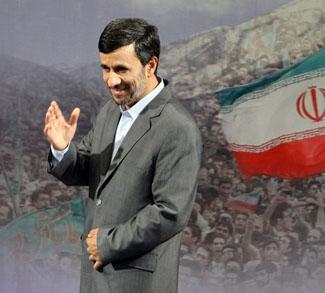 Iranian President Mahmoud Ahmadinejad ge