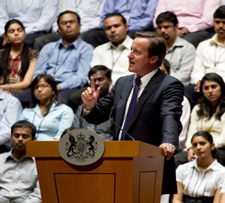 Prime Minister David Cameron Makes Official Visit To India