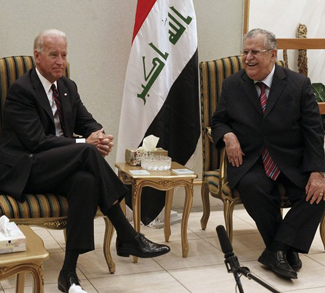 U.S. Vice President Biden meets with Iraq's President Talabani in Baghdad