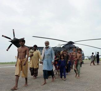 Pakistani flood survivors