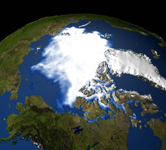 Arial view of the Arctic