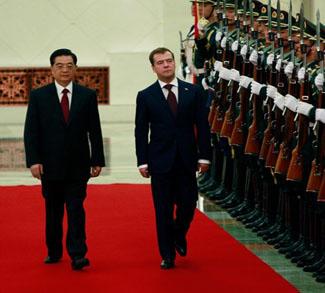 Russian President Dmitry Medvedev Visits China