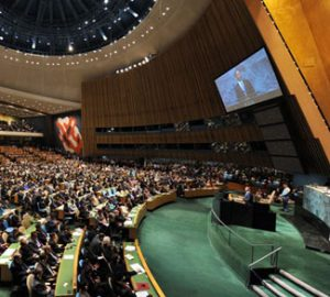 US President Barack Obama speaks to the UN