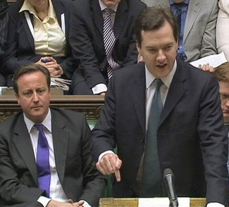 Britain's Finance Minister George Osborne announces the UK government's spending plans at parliament in London