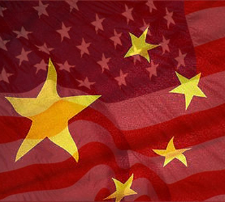 stars and stripes of china and US