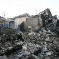 Destroyed houses on Yeonpyeong Island