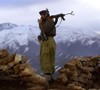 PKK member in Turkish mountains