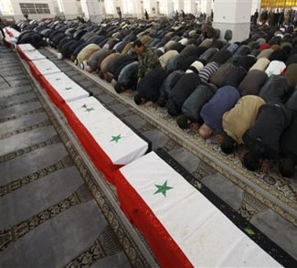 Mideast Syria Funeral