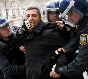 Man being detained by police