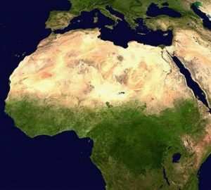 Satellite image of Africa