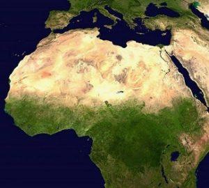 Satellite image of Africa