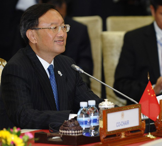 Chinese Foreign Minister Yang Jiechi spe