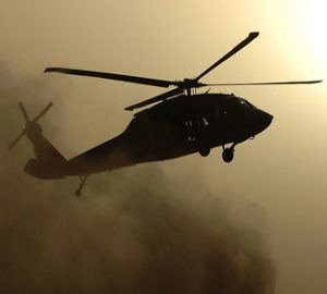 Iraqi military helicopter