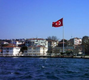 Turkish flag in Turkey