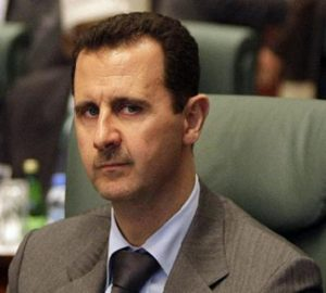 President al-Assad in the better days before the Syrian civil war.