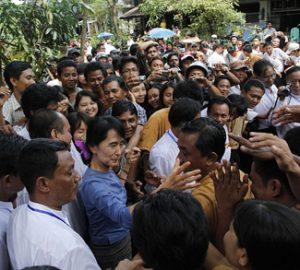 crowd in Myanmar
