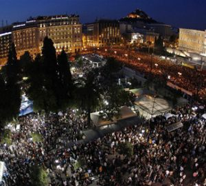 political protest in Greece