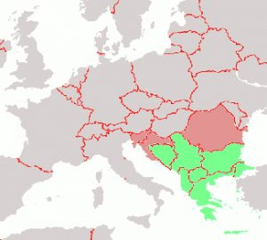 Political Map of Western Balkan Nations