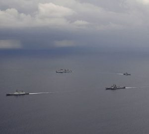 Chinese Military ships in South China Sea