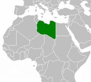 Political map of Libya