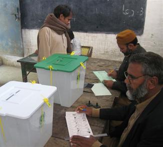 Wahlen in Lahore, Pakistan 2008