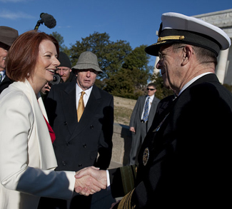 Minister Julia Gillard on Defense