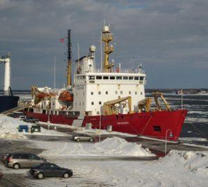 Docked Canadian Icebreaker