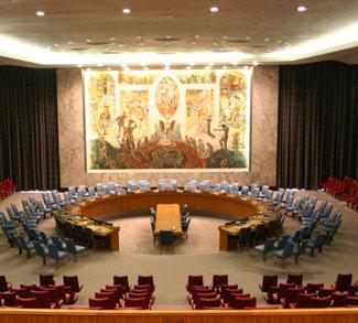 Empty UN room