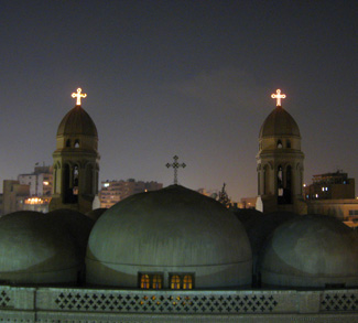 Churches at night