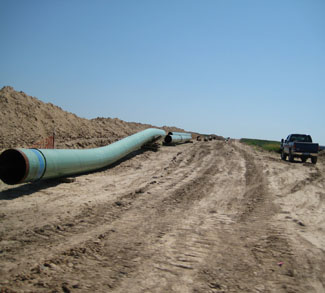 Keystone XL Pipe construction