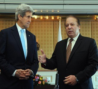 John Kerry and Nawaz Shariff