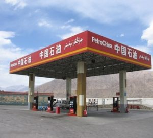 A gas station in China's Xinjiang Province.