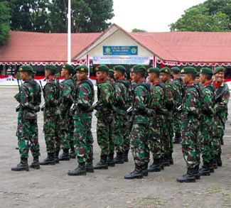 Indonesian Military, members of the TNI. cc Flickr sbamueller