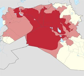 Territorial control of ISIS