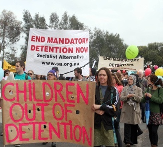 Refugee Children in Immigration Detention Protest Broadmeadows cc Takver