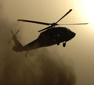 Blackhawk Helicopter in Iraq, CC US Army