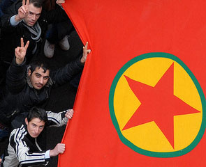 PKK Flag Turkish Kurds cc Flickr hughes_leglise